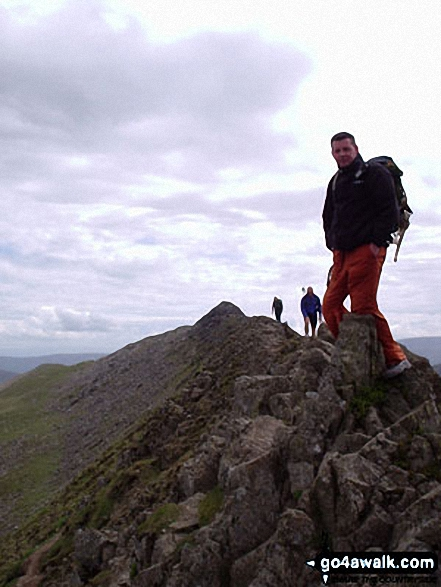 Walk c264 The Grisedale Round from Patterdale - On Striding Edge (Helvellyn)