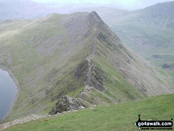 Striding Edge from the top of Helvellyn
