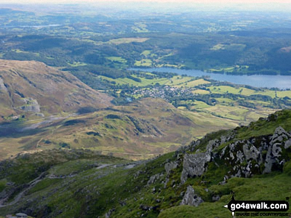 Lake Coniston & Coniston Village from The Old Man of Coniston