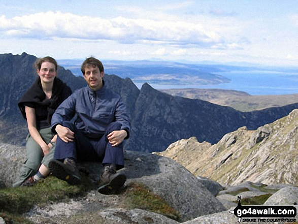 Sanya and I on Goatfell (Goat Fell), Isle of Arran