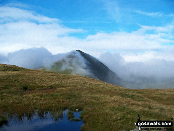 Catstye Cam from Hole-in-the-wall. Walk route map c220 Helvellyn via Striding Edge from Glenridding photo