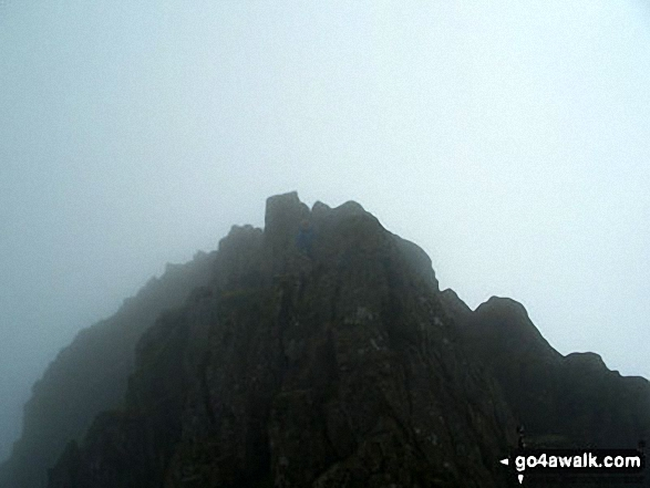 On Striding Edge in mist