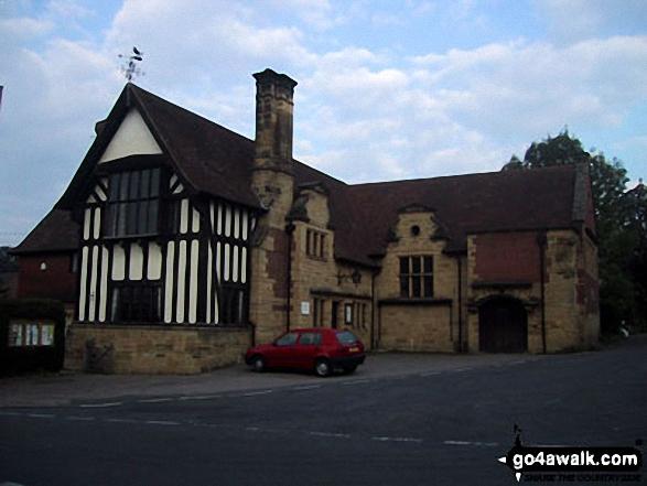 Penshurst Village Hall. Walk route map k156 Smarts Hill from Penshurst photo