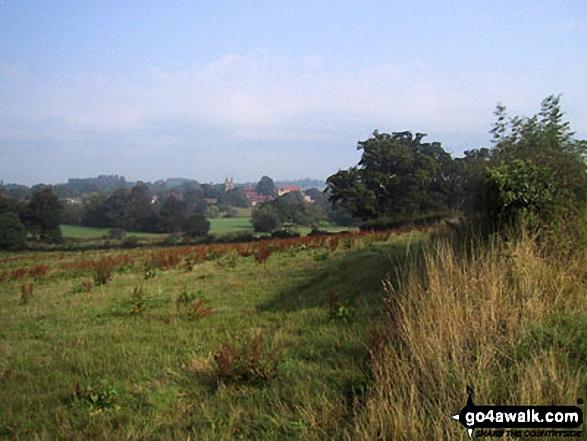 Fields near Penshurst. Walk route map k156 Smarts Hill from Penshurst photo