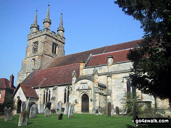 Penshurst Village Church. Walk route map k156 Smarts Hill from Penshurst photo