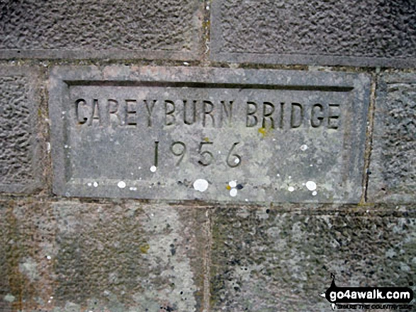 Careyburn Bridge name stone