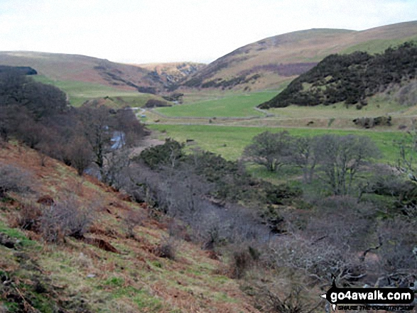 The Carey Burn Valley from The High Level Route above Colgate Water through Happy Valley