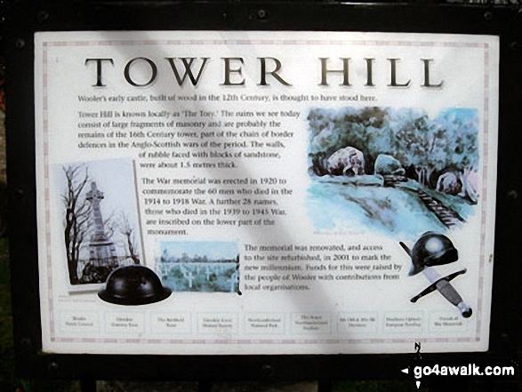 Tower Hill Information Plaque, Wooler
