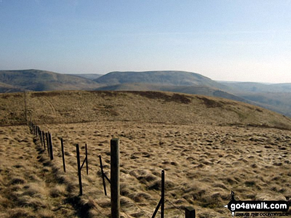 Blackhall Hill and White Hill (Teviothead) from Upper Hill (Fiddleton Cottage)
