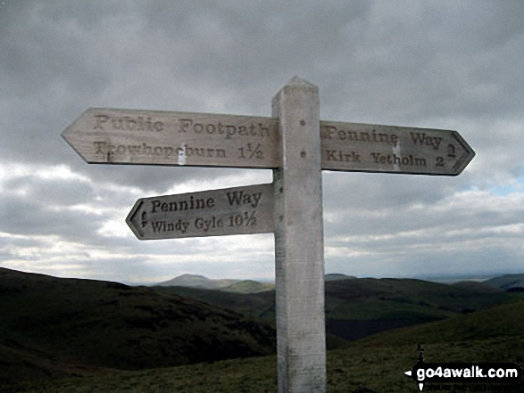 The Pennine Way on the English/Scottish Border near Eccles Cairn