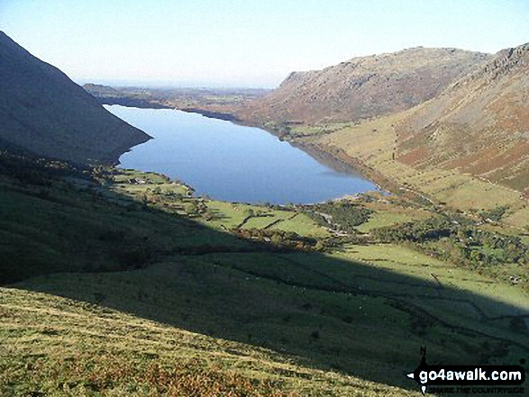 Wast Water and Wasdale Head from Lingmell. Walk route map c197 Lingmell and Scafell Pike from Wasdale Head, Wast Water photo