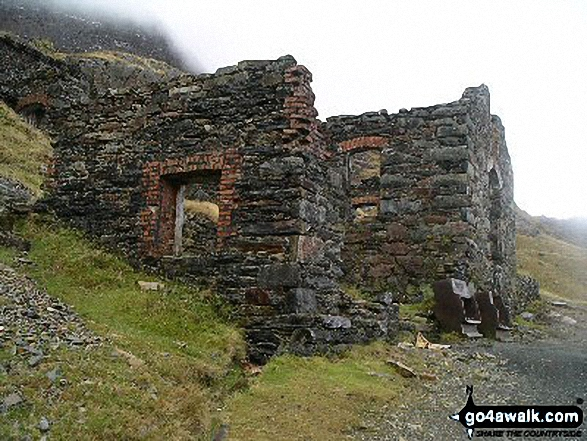 On the Pyg Track. Walk route map gw100 Mount Snowdon (Yr Wyddfa) from Pen y Pass photo