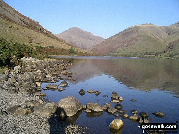 Wast Water with Great Gable beyond. Walk route map c101 Pillar and Little Scoat Fell from Wasdale Head, Wast Water photo