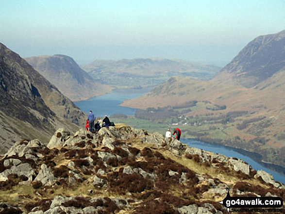 Hay Stacks summit. Walk route map c228 Hay Stacks from Buttermere photo