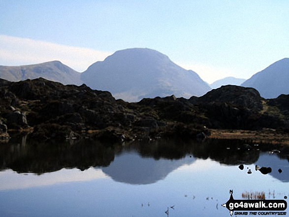 Innominate Tarn, Hay Stacks with Great Gable beyond