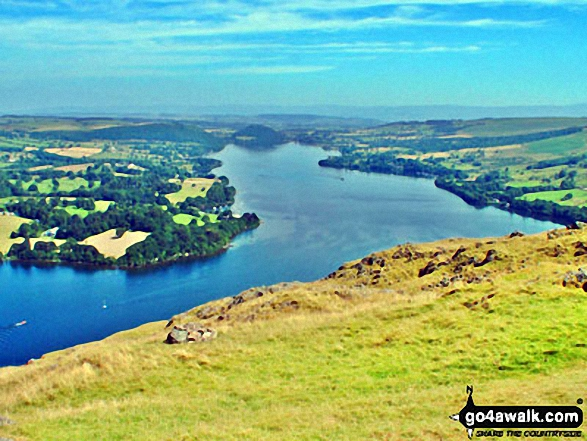 Walk c304 Beda Head and Place Fell from Howtown - Ullswater from Hallin Fell