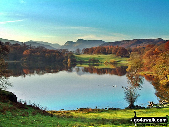 Loughrigg Tarn from the lower slopes of Loughrigg Fell