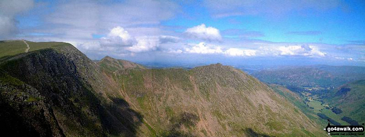 *Striding Edge and Helvellyn from Nethermost Pike