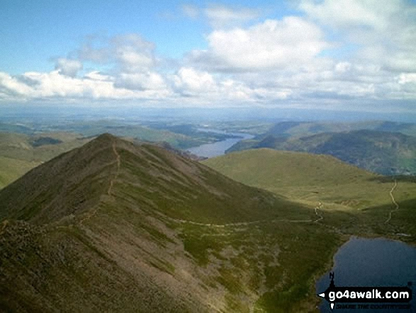 Swirral Edge and Catstye Cam from Helvellyn