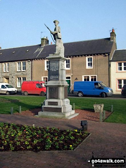 Newcastleton War Memorial in Douglas Square