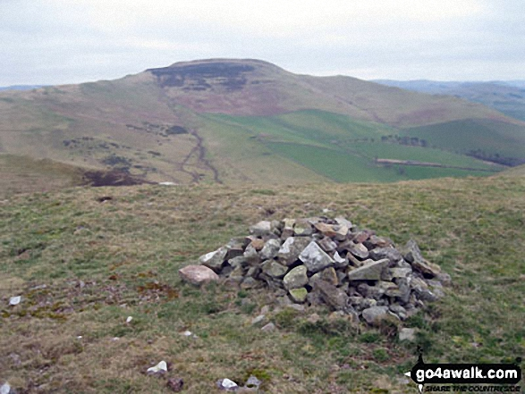 Hownam Law from Grubbit Law summit cairn
