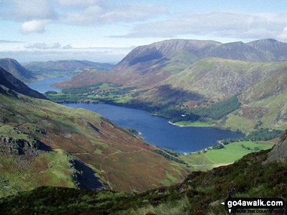 Crummock Water and Buttermere with Grasmoor beyond from Hay Stacks (Haystacks)