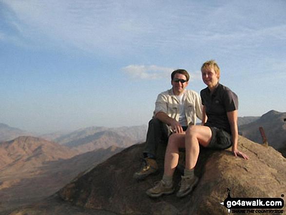 Me and my girlfriend (Susi) on Mount Sinai walk Egypt Egypy Egypt walks