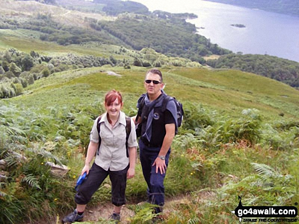 My daughter Faye and myself on route to Ben Lomond via Ptarmigan with Loch Lomond in the background