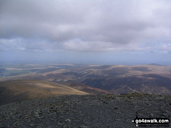 Blencathra and the Northern Fells from Skiddaw summit
