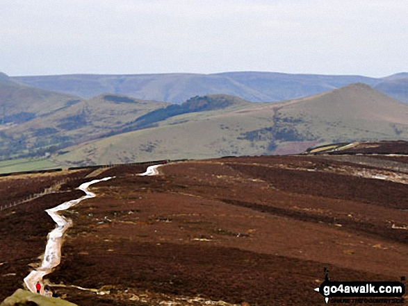 The Hope Valley and Lose Hill (Ward's Piece) (right) from Winhill Pike (Win Hill) summit