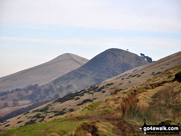 Lose Hill (Ward's Piece) and Back Tor (Hollins Cross) from Small Clough