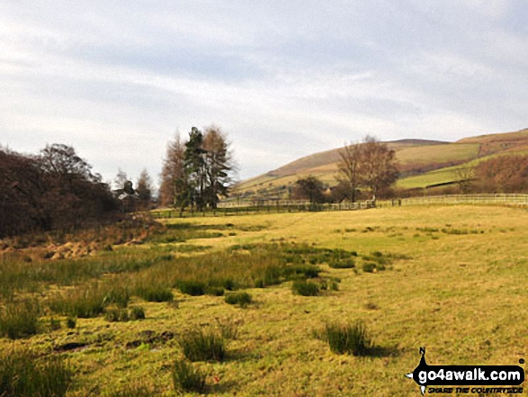 The Vale of Edale. Walk route map d296 Jacob's Ladder and Kinder Scout from Edale photo