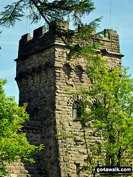 One the towers of Derwent Reservoir Dam