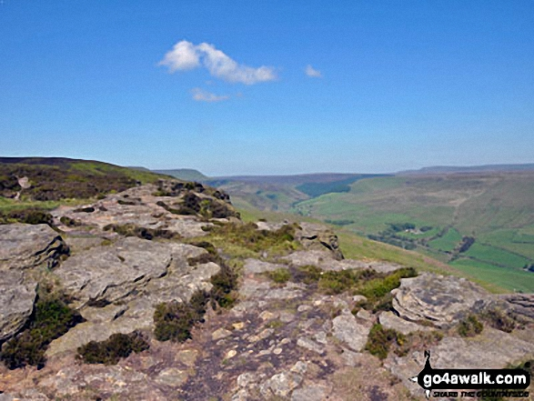 The Snake Pass from Crookstone Knoll (Kinder Scout)