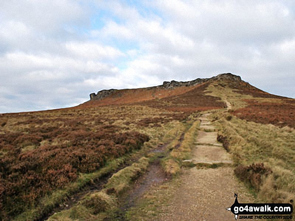 Walk Higger Tor walking UK Mountains in The Dark Peak Area The Peak District National Park Derbyshire    England