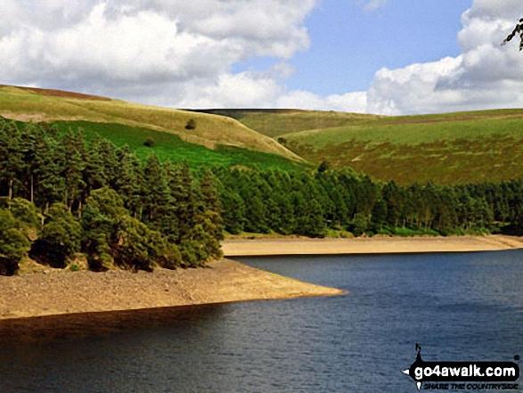 High Stones (Howden Moor) beyond Howden Reservoir