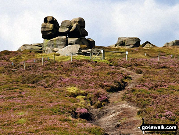 Approaching Barrow Stones from Ridgewalk Moor