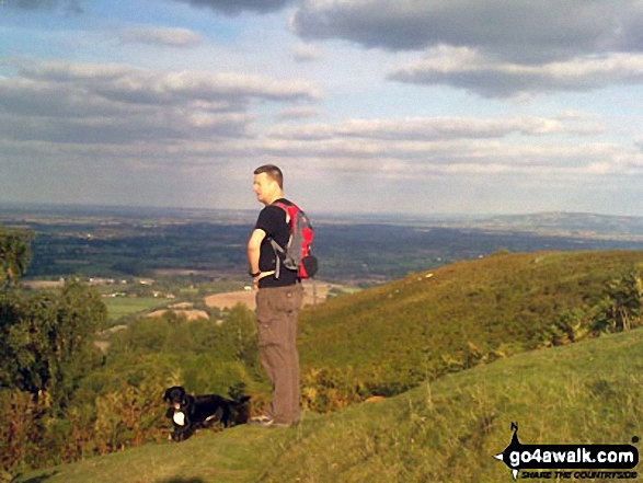 Ian and Baillie Wright on the East side of Worcestershire Beacon