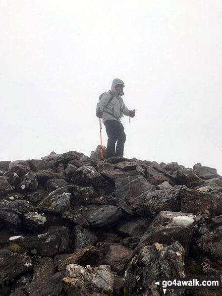 Walk h125 Stob Coire an t-Sneachda (Cairn Gorm), Cairn Lochan and Creag an Leth-choin (Lurcher's Crag) from Cairn Gorm Ski Centre - On the summit of Beinn Resipol