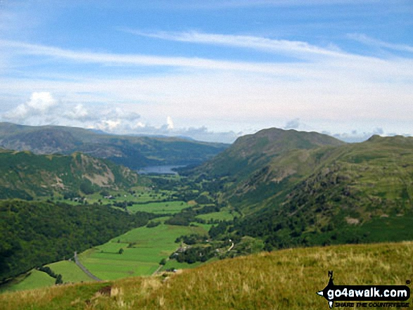 Patterdale from Hartsop Dodd. Walk route map c128 The Hayswater Round from Hartsop photo