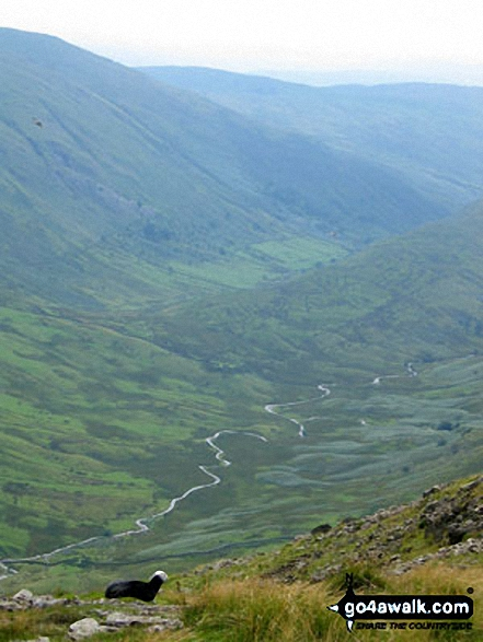 Troutbeck from Stony Cove Pike (Caudale Moor). Walk route map c128 The Hayswater Round from Hartsop photo