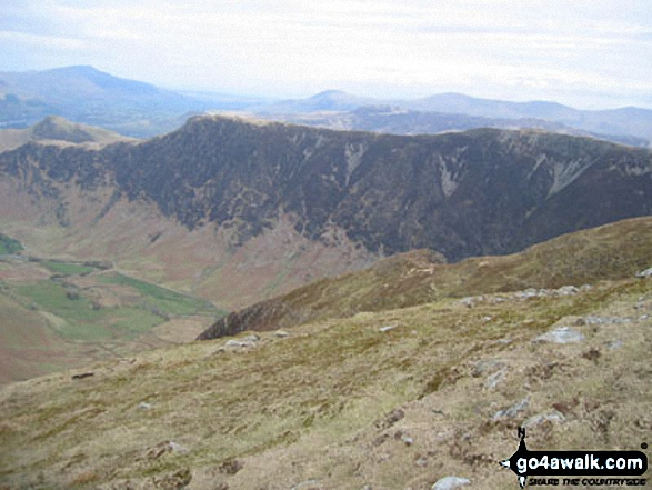 High Spy (North Top) and High Spy from Hindscarth. Walk route map c100 The Newlands Horseshoe from Hawes End photo