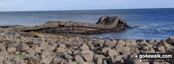 Walk n116 Dunstanburgh Castle from Craster - Coastal rock formations near Craster