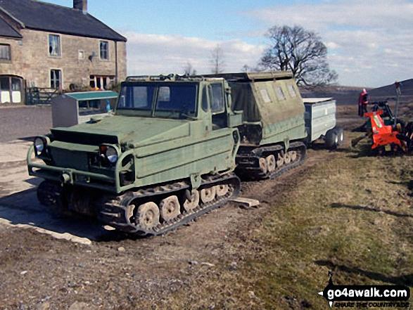 Unusual track vehicle in Fell Side Farm
