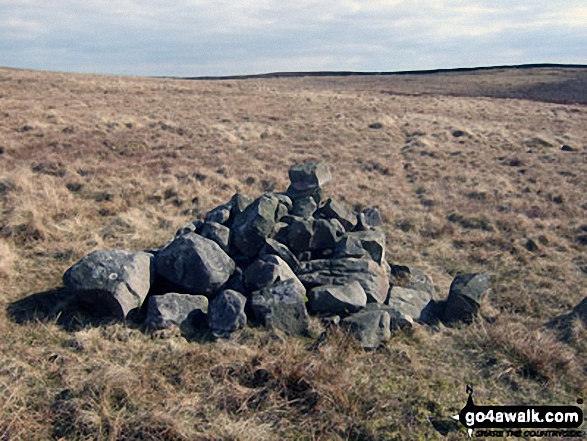 'Old Ned' (cairn) on Easington Fell