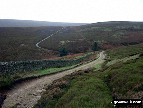 Hordron Road (Track) crossing Langsett Moors
