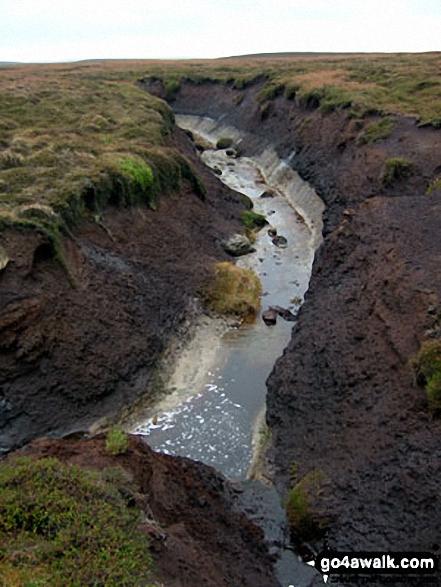 Deep peat groughs on Howden Edge