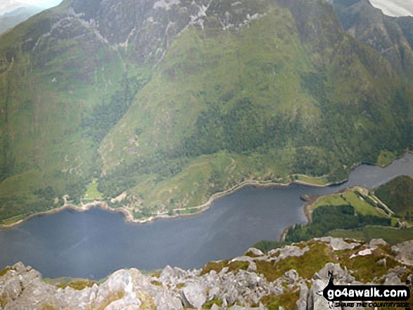 Loch Leven and the lower slopes of Mam na Gualainn from the summit of Sgorr na Ciche (Pap of Glen Coe)