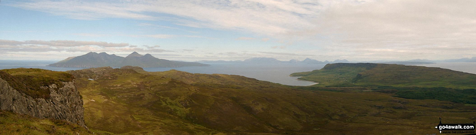 The Cuillin Hills (Isle of Skye) from the summit of An Sgurr (Eigg)