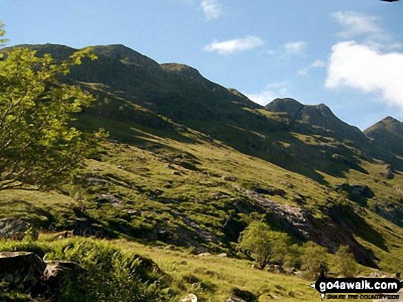 Beinn Fhada (Stob Coire Sgreamhach) from Coire Gabhail (The 'Lost Valley' of Glen Coe)